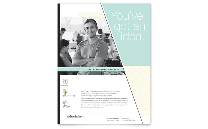 Venture Capital Firm Flyer Template - Word & Publisher