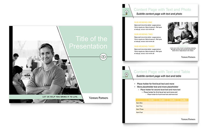 Venture Capital Firm PowerPoint Presentation Template - PowerPoint