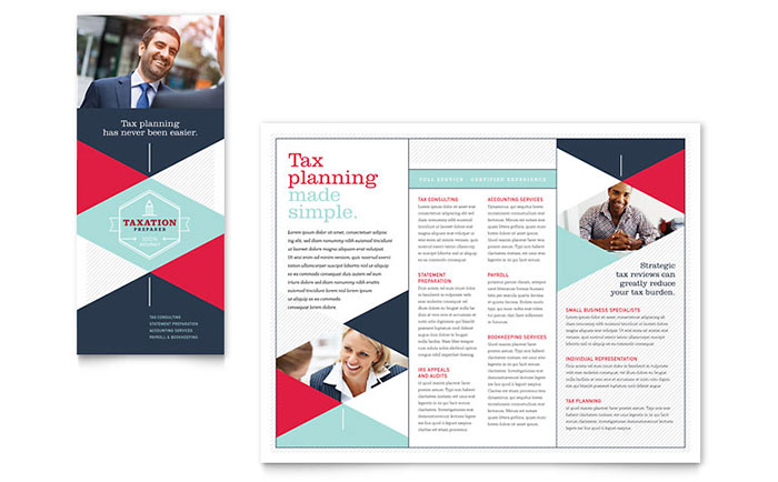 Tax Preparer Brochure Template Word Publisher - Brochure template publisher