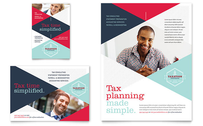 tax preparer flyer ad template word publisher