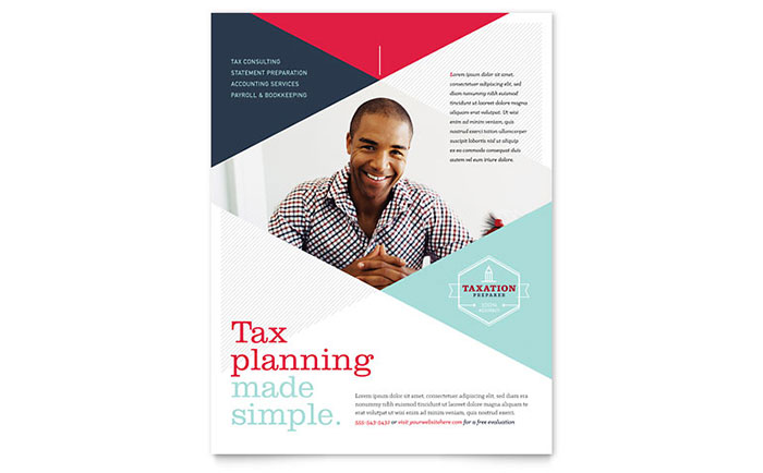 Tax Preparer Flyer Template - Word & Publisher