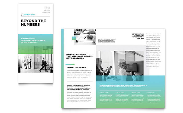 Auditing Firm Tri Fold Brochure Template - Word & Publisher