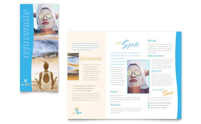 Beauty Spa Brochure Template Word Publisher - Spa brochure templates