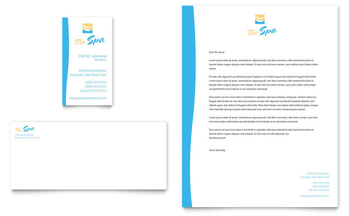 Beauty Spa Business Card & Letterhead Template - Word & Publisher