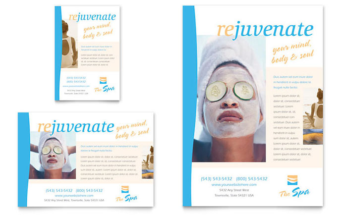 Beauty Spa Flyer  Ad Template  Word  Publisher