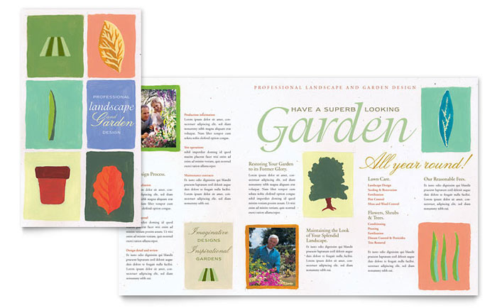 garden landscape design brochure template word publisher