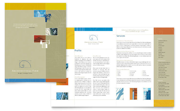 Architectural firm brochure template word publisher for Pdf brochure design templates