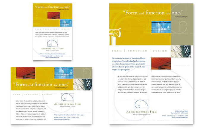 Architectural Firm Flyer & Ad Template - Word & Publisher