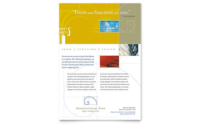 Architectural Firm Flyer Template Download - Word & Publisher - Microsoft Office