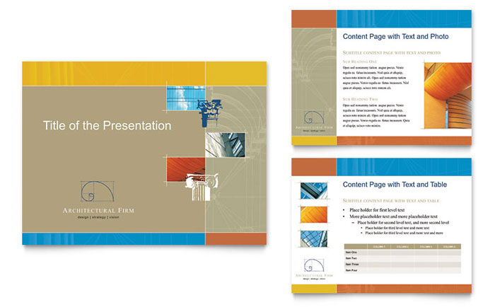 Architectural Firm PowerPoint Presentation Template Download - Microsoft Office