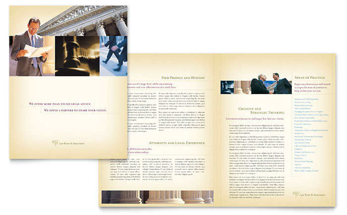 Attorney legal services brochure template word publisher for Legal brochure template