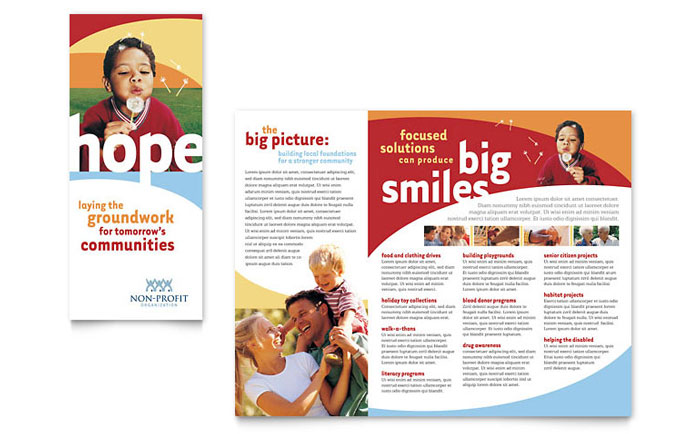 Community Non Profit Brochure Template Word Publisher