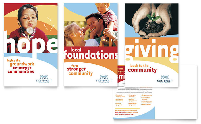 Community Non Profit Postcard Template Download - Word & Publisher - Microsoft Office
