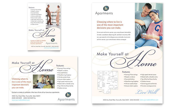 apartment brochure templates - apartment condominium flyer ad template word publisher
