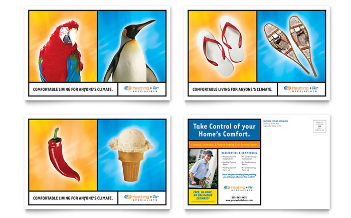 Heating & Air Conditioning Postcard Template Download - Word & Publisher - Microsoft Office