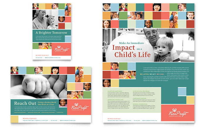 non profit association for children flyer ad template word