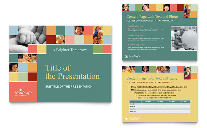 Non Profit Association For Children Powerpoint Presentation