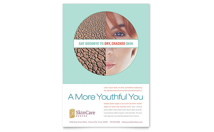Skin Care Clinic Flyer Template Download - Word & Publisher - Microsoft Office