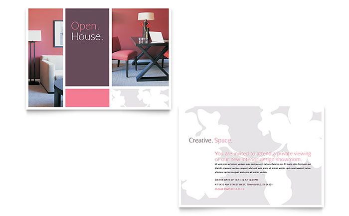 Interior Designer Announcement Template - Word & Publisher