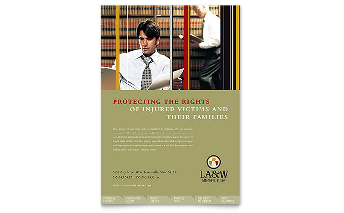 Lawyer & Law Firm Flyer Template Download - Word & Publisher - Microsoft Office