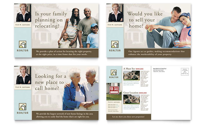 House For Sale Real Estate Postcard Template Word Publisher