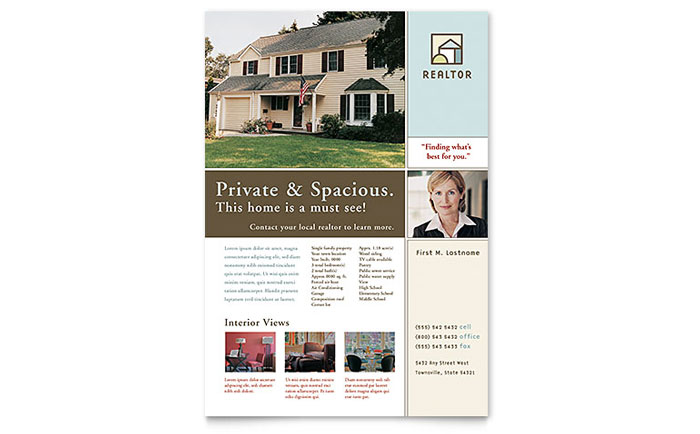 House for sale real estate flyer template word publisher for House for sale brochure template