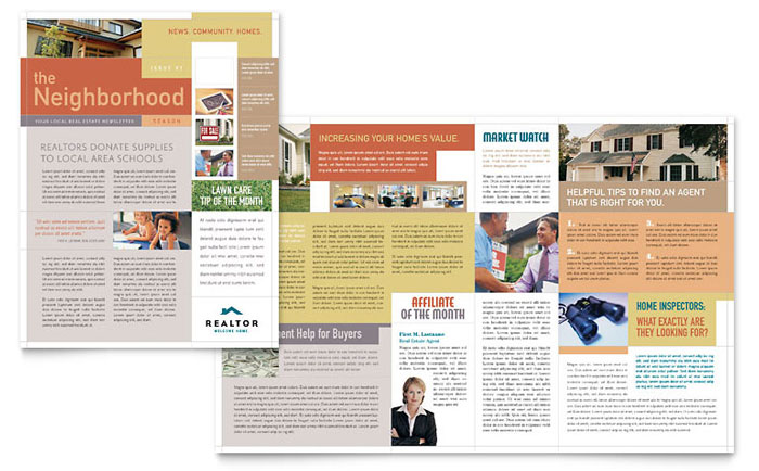 realtor  u0026 real estate agency newsletter template