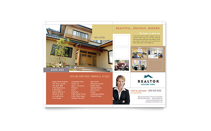 Realtor Real Estate Agency Flyer Template Word Publisher - Real estate agent flyer template free