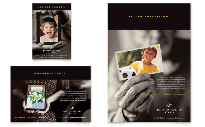 photography studio flyer  u0026 ad template