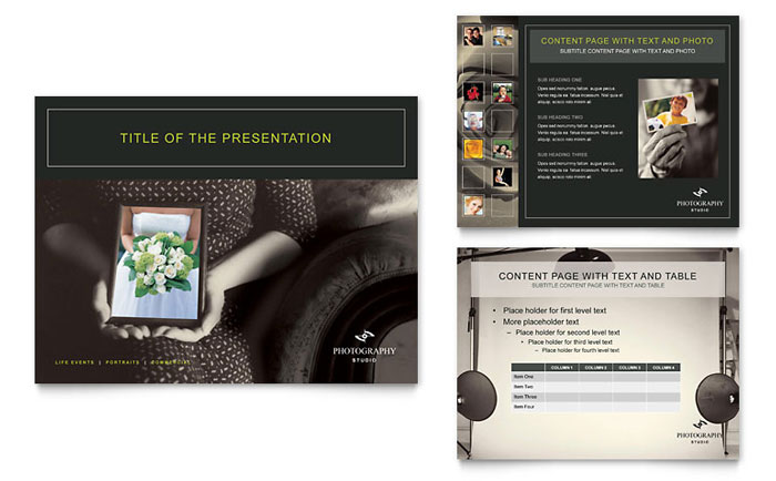 Photography Studio PowerPoint Presentation Template - PowerPoint