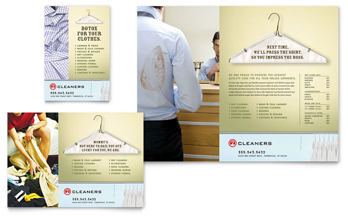 Laundry dry cleaners flyer ad template word publisher for Laundry flyers templates