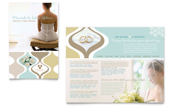 Wedding Store & Supplies Brochure Template Download - Word & Publisher - Microsoft Office
