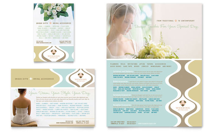 Wedding Store & Supplies Flyer & Ad Template Download - Word & Publisher - Microsoft Office