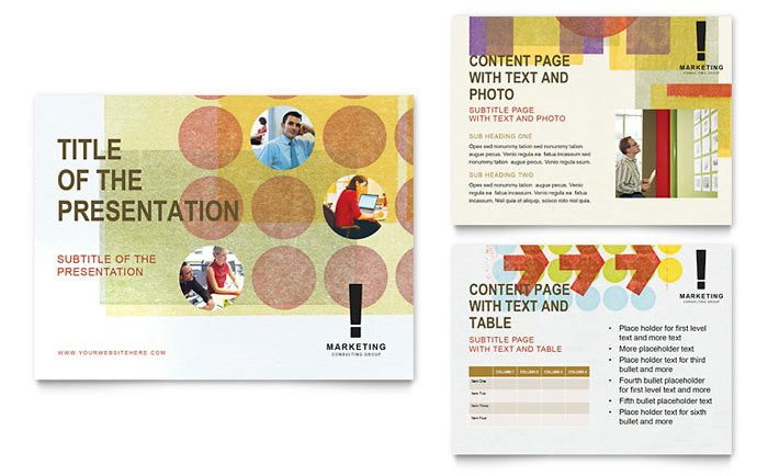 Marketing Consultant Powerpoint Presentation Powerpoint Template