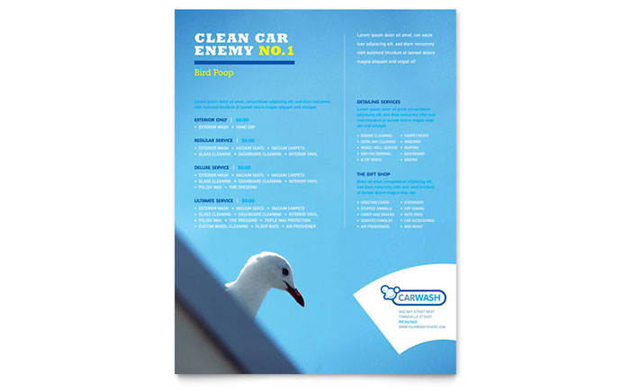 Car Cleaning Flyer Template - Word & Publisher