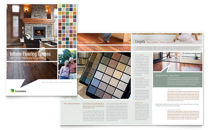 carpet hardwood flooring brochure template word publisher