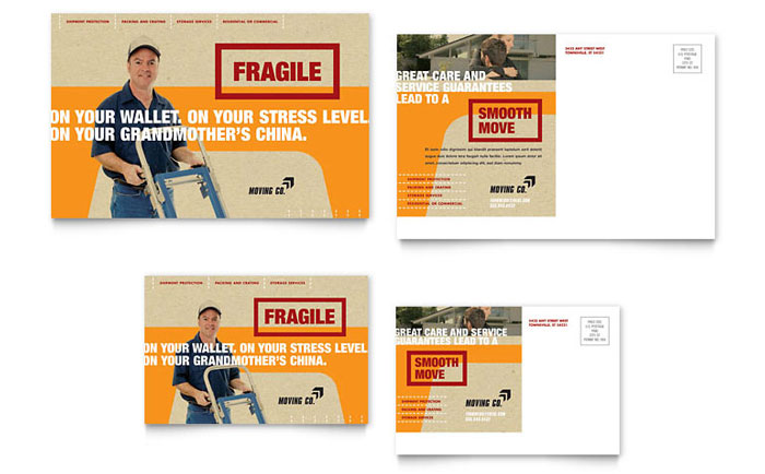 Movers & Moving Company Postcard Template - Word & Publisher