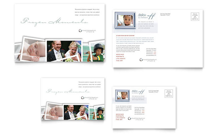 Photographer Postcard Template Word Publisher - Event postcard template