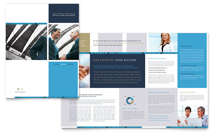 Small Business Consulting Brochure Template Word Publisher - Business brochures templates