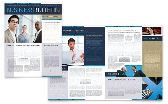 small business consulting newsletter template word publisher