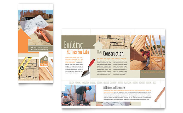 home building carpentry brochure template word publisher