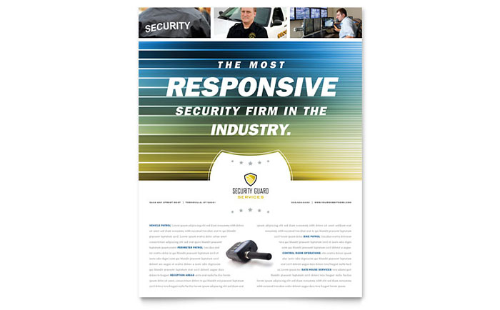 Security Guard Flyer Template - Word & Publisher