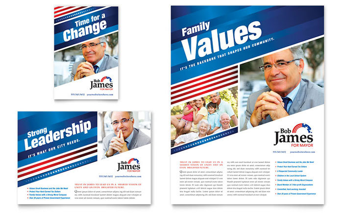 political campaign flyer  u0026 ad template