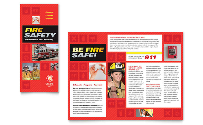 Fire Safety Brochure Template - Word & Publisher