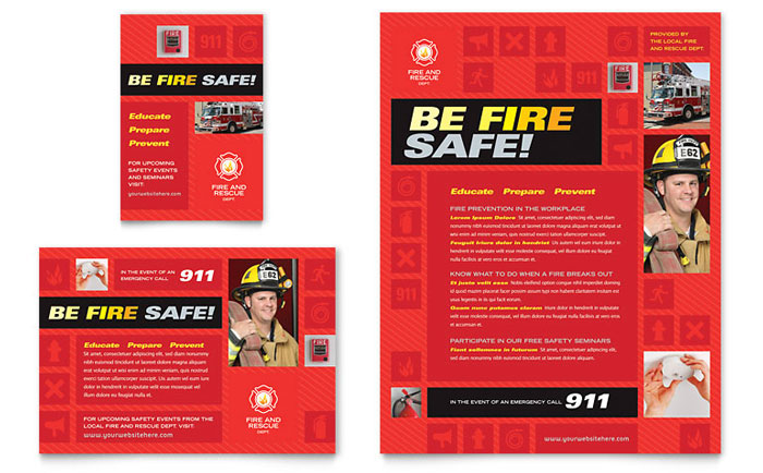 Fire Safety Flyer & Ad Template Download - Word & Publisher - Microsoft Office