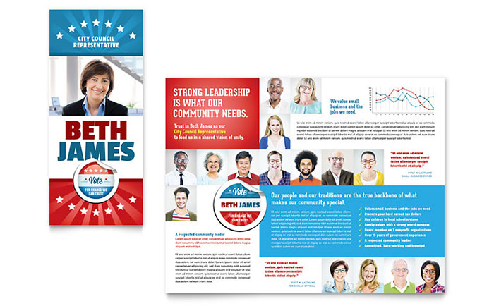 Political Candidate Brochure Template - Word & Publisher