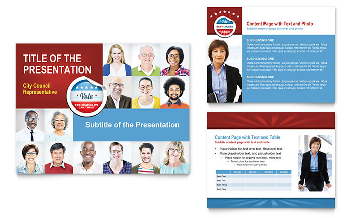 Political candidate powerpoint presentation powerpoint for Political brochure templates