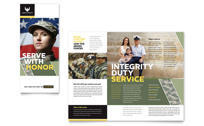 Military Brochure Template Word Amp Publisher