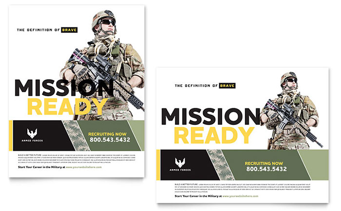 Military Poster Template - Word & Publisher