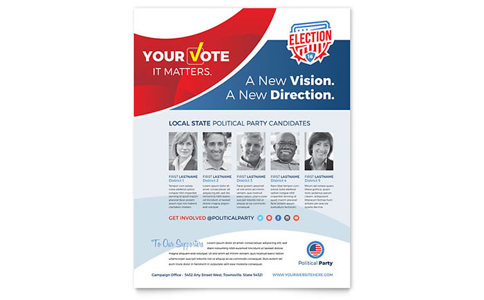 Election flyer template word publisher for Political brochure templates